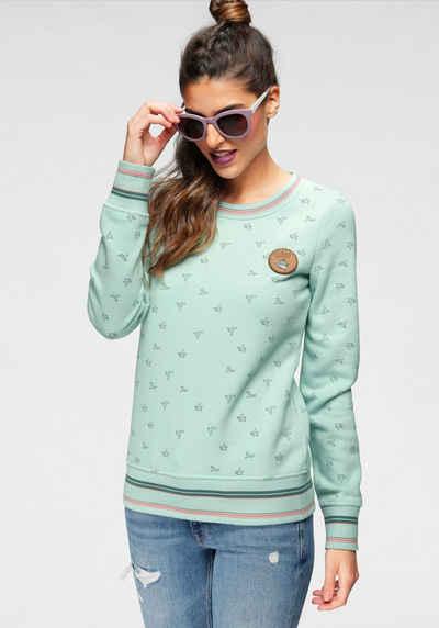 Ocean Sportswear Sweatshirt mit Lederimitatbadge