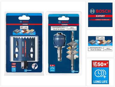 Bosch Professional Lochsäge »Bosch EXPERT Tough Material Lochsägen Starter Set 64 x 60 mm Carbide (2608900430) Universal + Power Change Adapter (2608900527)«