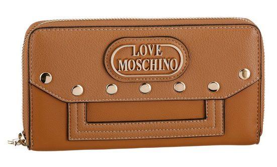LOVE MOSCHINO Geldbörse, mit modischer Nietenverzierung