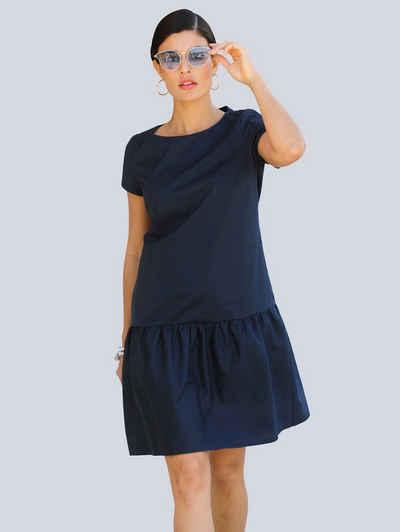 Alba Moda Blusenkleid mit angesetzter Rüsche am Abschluss
