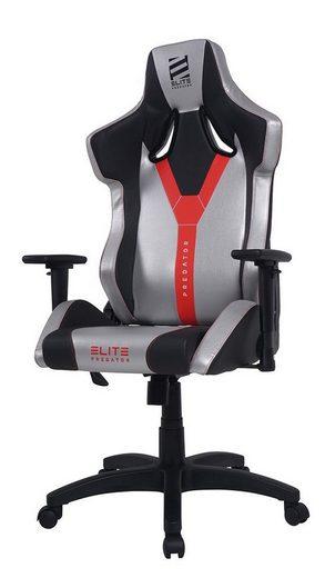 Elite Gaming-Stuhl »Elite Predator«, Racing Optik, Stuhl 360 Grad drehbar, Stufenlose Wippmechanik