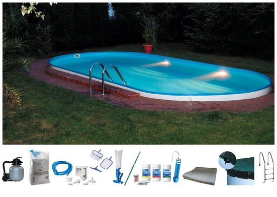 BWT - Best Water Technology Set: Ovalpool 10-tlg., BxLxH: 300x490x120 cm