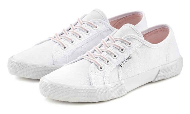 LASCANA Sneaker mit stretchigen Schnürbändern