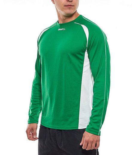 Craft Funktionsshirt »Craft Funktions-Shirt elastisches Herren Langarm Thermo-Shirt Sport-Shirt T-Shirt Grün«