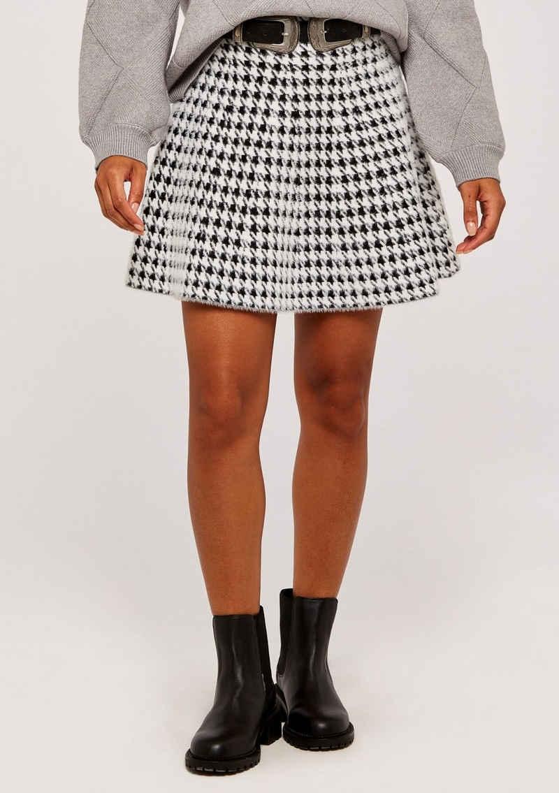 Apricot Minirock »Dogtooth Fluffy Mini Skirt« (1-tlg) mit tollem Design