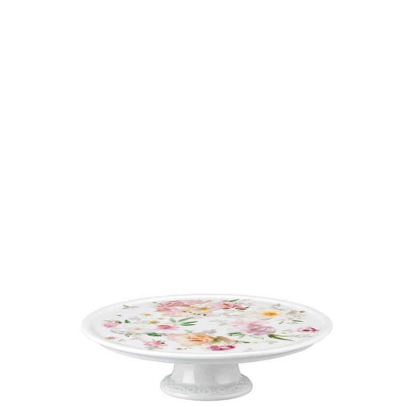 Rosenthal Tortenplatte »Maria Pink Rose Platte auf Fuß klein«, Porzellan