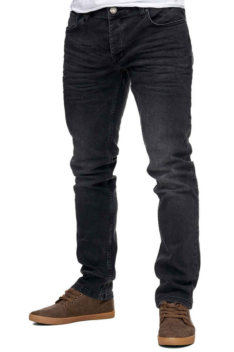 Reslad Stretch-Jeans »Reslad Jeans-Herren Slim Fit Basic Style Stretch-D« Stretch Jeans-Hose Slim Fit