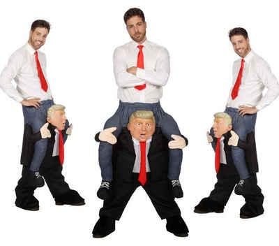 Wilbers Kostüm »Huckepack Kostüm - Mann auf Trump - Wilbers Gr. M/L - Hucke Pack Präsident«, Huckepack Kostüm, Verkleidung, Hucke Pack Präsident