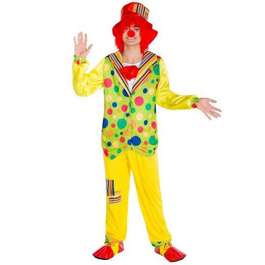 tectake Clown-Kostüm »Herrenkostüm Clown Pipetto«
