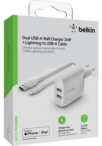 Belkin »Dual USB-A įkroviklis incl. Lightning...