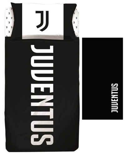 Bettwäsche »Juventus Turin - Fan-Bettwäsche-Set, 135x200 und Bade-handtuch, 70x140 cm«, Juventus Turin, 100% Baumwolle