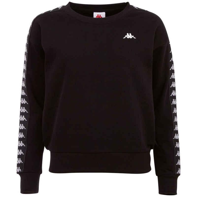 Kappa Sweatshirt »JANKA« mit hochwertigem Jacquard Logoband an den Ärmeln