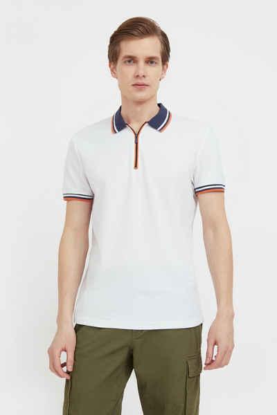 Finn Flare Poloshirt mit kurzem Reißverschluss