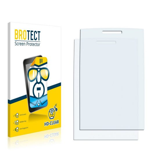 BROTECT Schutzfolie »für Nokia X2-00«, (2 Stück), Folie Schutzfolie klar