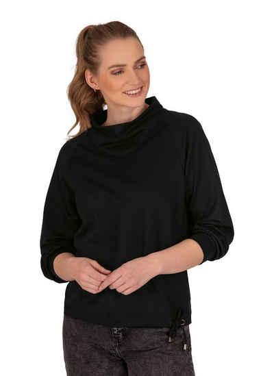 Trigema Sweatshirt mit modischem Kragen