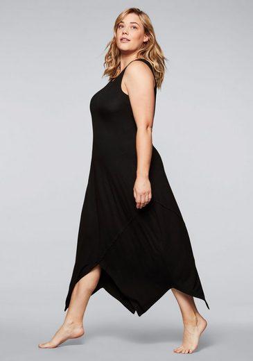 Sheego Jerseykleid in Zipfelform