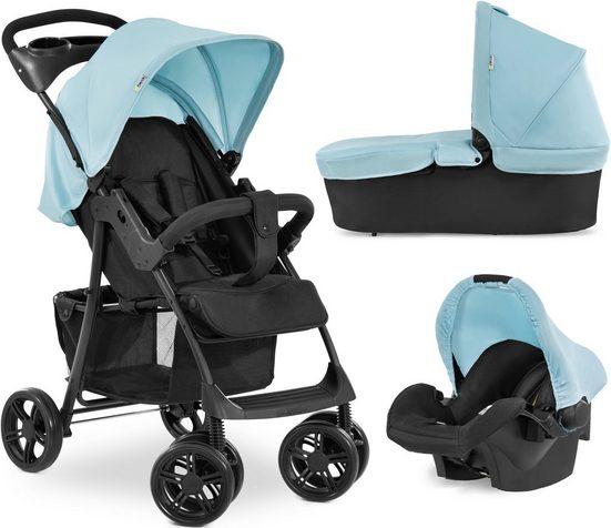 Hauck Kombi-Kinderwagen »Shopper Trioset«, mit Babywanne und Babyschale; Kinderwagen