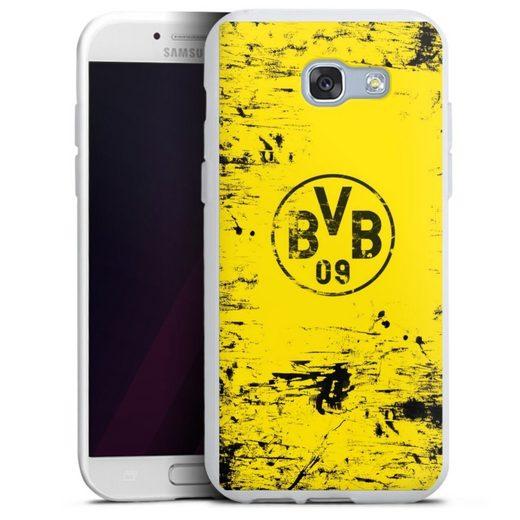 DeinDesign Handyhülle »BVB Destroyed Look« Samsung Galaxy A5 Duos (2017), Hülle Borussia Dortmund Offizielles Lizenzprodukt BVB