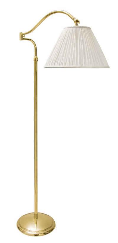 Licht-Erlebnisse Stehlampe »FLOOR LAMP«, Stehleuchte Messing poliert Premium E27 Wohnzimmer Klassischer Stil