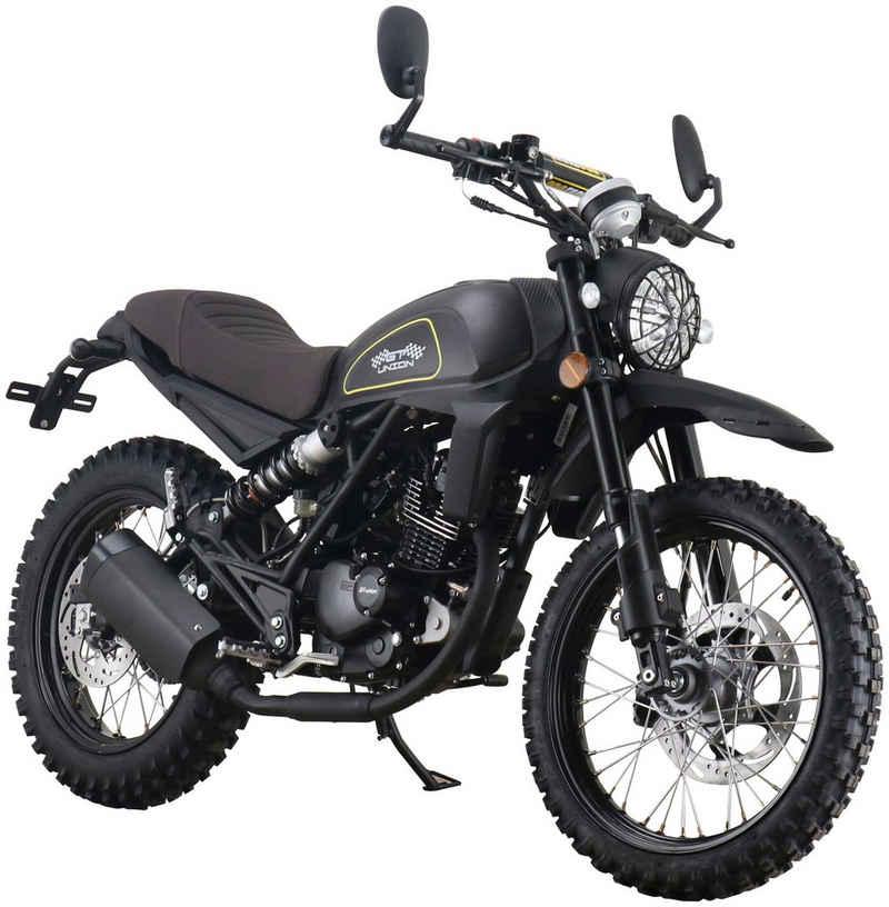 GT UNION Motorrad »Dakar 125«, 125 ccm, 95 km/h, Euro 5, mattschwarz