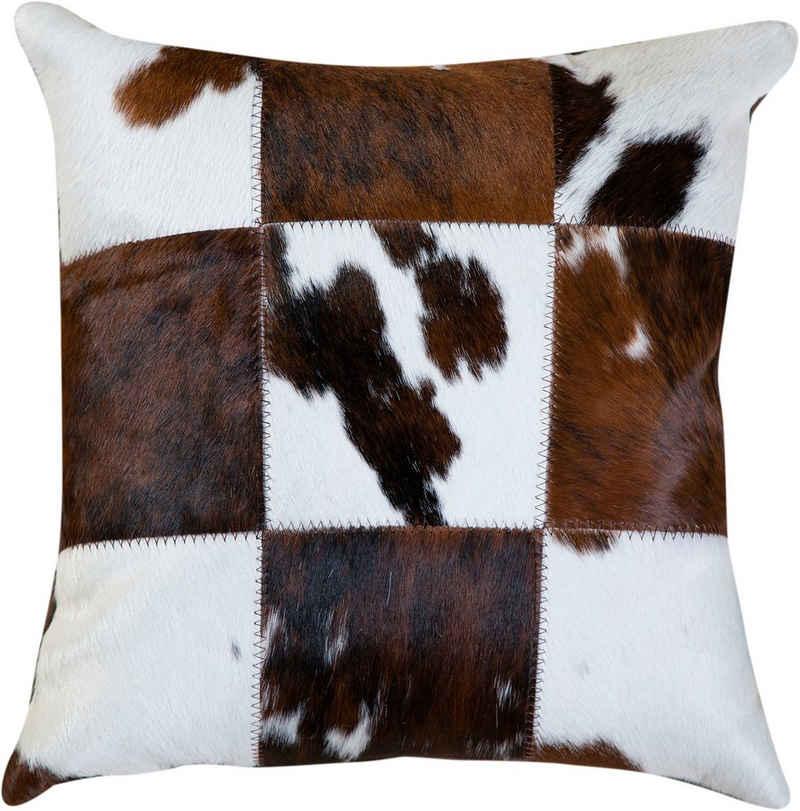 Trendline Fellkissen »Dekokissen Big Mix«, wohnliches Deko Zierkissen, eckig, 45x45 cm, handgefertigt, echtes Rinderfell, Naturprodukt - daher ist jedes Kissen ein Einzelstück, Wohnzimmer