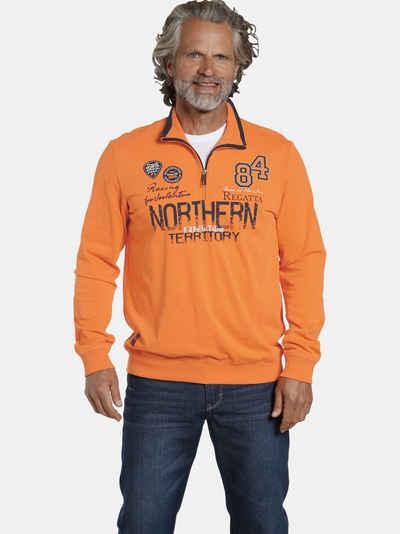 Jan Vanderstorm Sweatshirt »STIG« sportlicher Troyer-Pullover