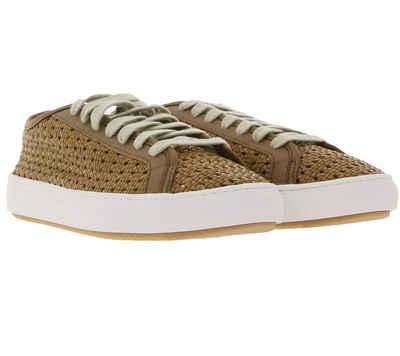 Le Coq Sportif »Le Coq Sportif Sneaker stylische Damen Schnür-Schuhe im Webmuster Trend-Schuhe Braun« Sneaker