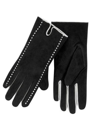 J.Jayz Lederhandschuhe Velourslederhandschuhe, Fingerhandschuhe