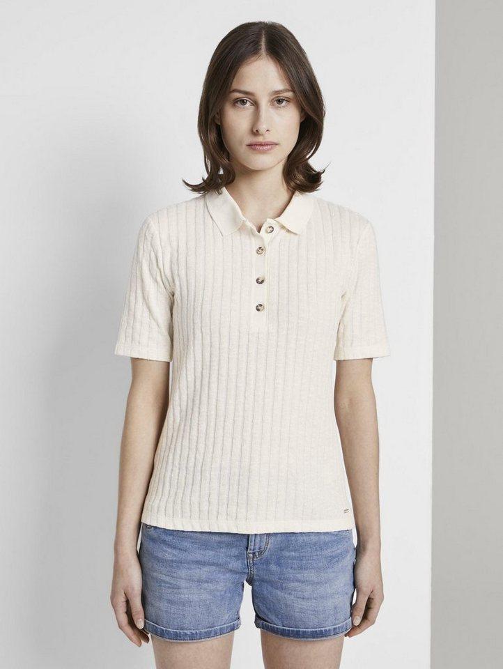 tom tailor denim -  Poloshirt »Polo-Shirt in Ripp-Optik«