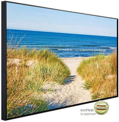 Papermoon Infrarotheizung »EcoHeat - Dünen Strandweg«, Aluminium, 750 W, 60 x 120 cm, mit Rahmen