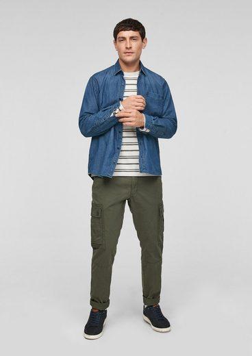 s.Oliver Langarmhemd »Regular Fit: Hemd aus Denim« Waschung