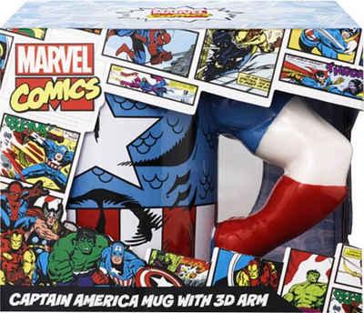 Tasse »Captain America Tasse 3D Arm«, Keramik