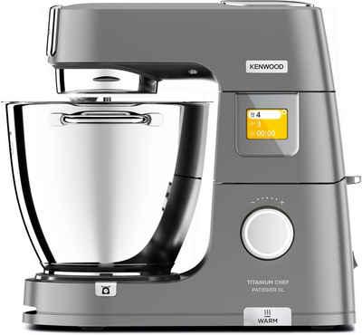 KENWOOD Küchenmaschine Titanium Chef Patissier XL KWL90.594SI, 1400 W, 7 l Schüssel, mit Wärmefunktion, zusätzliche 5 l Schüssel, inkl. umfangreiches Zubehör