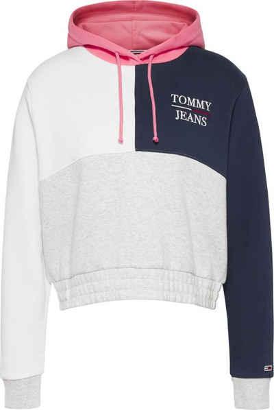 Tommy Jeans Kapuzensweatshirt »TJW Crop Colorblock Logo Hoodie« im modischem Coloblocking