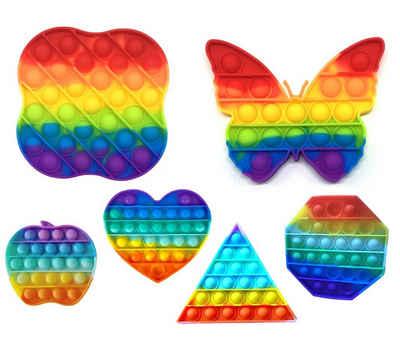 C&T Spiel, »Regenbogen - Pop It Bubble Push Plop Up Fidget - Anti-Stress Spiel - verschiedene Motive«