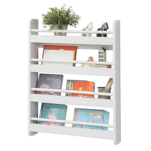 SoBuy Bücherregal »KMB08«, Kinderregal mit 4 Ablagen für Bücher und Deko