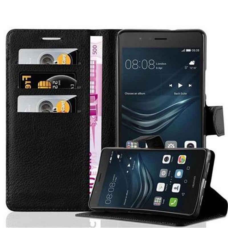 Cadorabo Handyhülle »Book mit Standfunktion« Huawei P9 LITE, Klappbare Handy Schutzhülle - Hülle - mit Standfunktion und Kartenfach