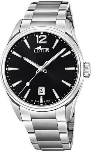 Lotus Multifunktionsuhr »UL18692/3 LOTUS Herren Uhr Fashion 18692/3«, (Analoguhr), Herren Armbanduhr rund, groß (ca. 42mm), Edelstahlarmband silber