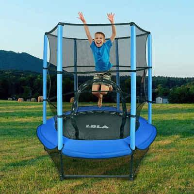 LBLA Kindertrampolin »Fitness Trampolin Garten Indoor Outdoor«, Ø 140 cm, (für Junge Mädchen ab 4 5 6 Jahren, mit Sicherheitsnetz, Randabdeckung), Jumpingtrampolin Außentrampolin Kindersporttrampolin, belastbar bis 50 kg