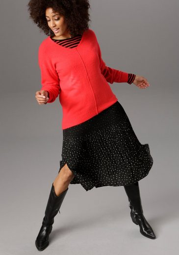 Aniston SELECTED Strickpullover in aktuellen Knallfarben