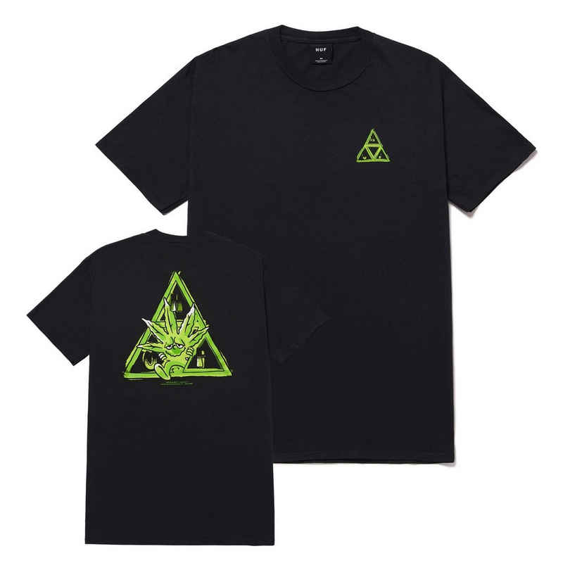 HUF T-Shirt »Green Buddy Triple Triangle - black«