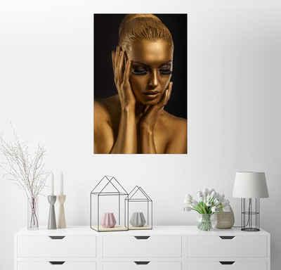 Posterlounge Wandbild, Fantastisches Gold-Make-Up