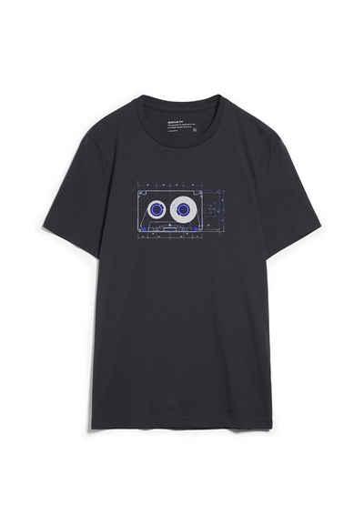 Armedangels Print-Shirt »JAAMES TAPE Herren T-Shirt aus Bio-Baumwolle« (1-tlg)