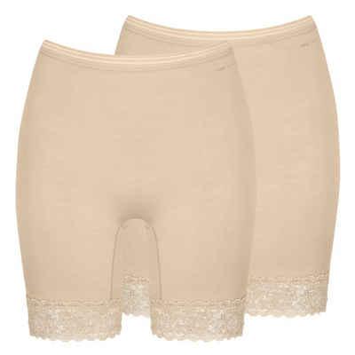 Mey Lange Unterhose »2er Pack Lights Long Pants« (2 Stück) Ohne auftragenden Seitennähte, Längeres Bein, Breite elastische Spitze