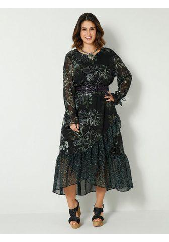 Sara Lindholm Ilga suknelė su Volants im Leoprint-St...