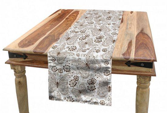 Abakuhaus Tischläufer »Esszimmer Küche Rechteckiger Dekorativer Tischläufer«, Botanisch Botanische Gezeichnet von Hand