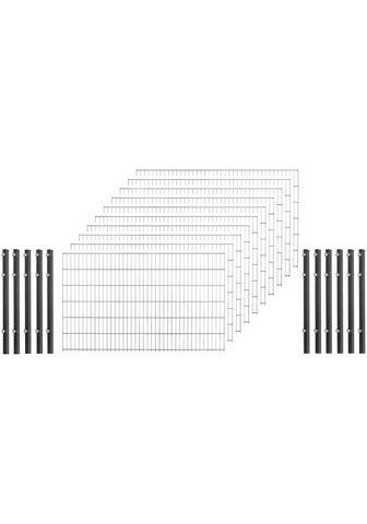 Arvotec Doppelstabmattenzaun (Set) 123 cm hoch...