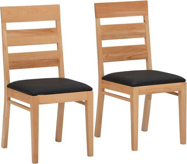 Essgruppen - Home affaire Essgruppe »Soeren 1«, (Set, 3 tlg., Tisch 80 x 80, 2 Stühle, Polstersitz), aus Massivholz  - Onlineshop OTTO