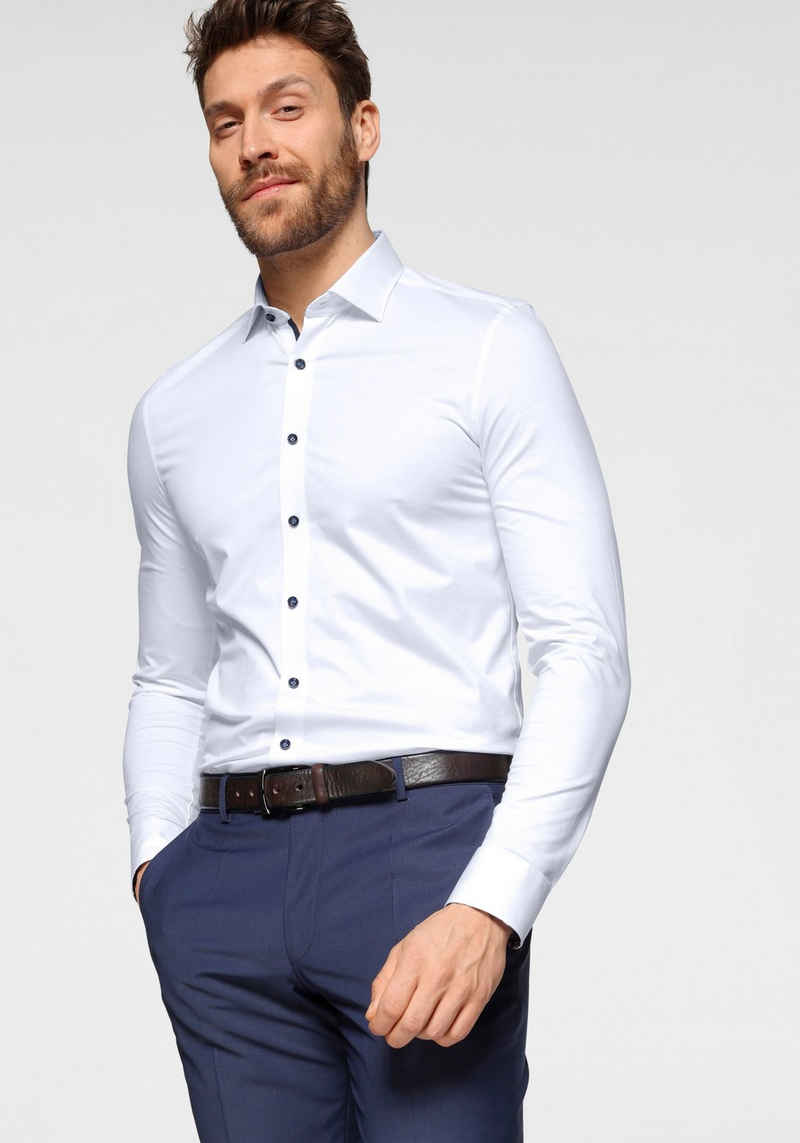 OLYMP Businesshemd »Level Five body fit« Dynamic Flex Jersey
