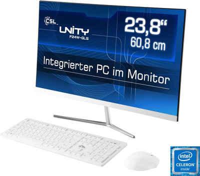 CSL Unity F24-GLS mit Windows 10 Home All-in-One PC (24,1 Zoll Intel N4120, UHD Graphics 600, 8 GB RAM, 256 GB SSD)